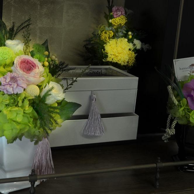 仏花・フューネラルフラワー(葬儀花)のオーダーメイド/販売を承ります