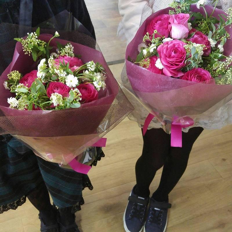 ピアノの発表会での花束プレゼント
