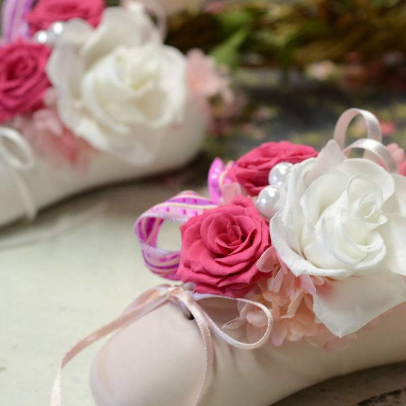 バレエの発表会へお祝いの花