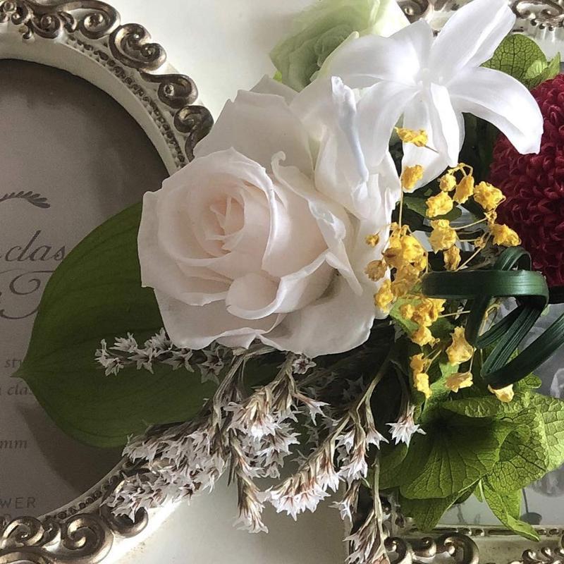 仏花をお客様のオーダーで納骨堂へ